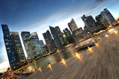 Financial district of Singapore by the bay waterside — Стоковое фото