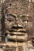 Close up of a stone face in bayon temple — Foto de Stock