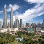 Panoramic view of Kuala Lumpur downtown in daytime — Stock Photo #70746897
