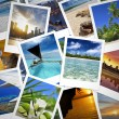 Heap of travel photographs and holiday memories — Stock Photo #75728423