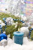 クリスマスの装飾をキャンドルします。 — ストック写真
