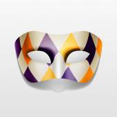 Vector Carnival Masquerade Party Mask Isolated — Stock Vector