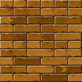 Vector Brick Wall Background Texture Pattern — Stock Vector