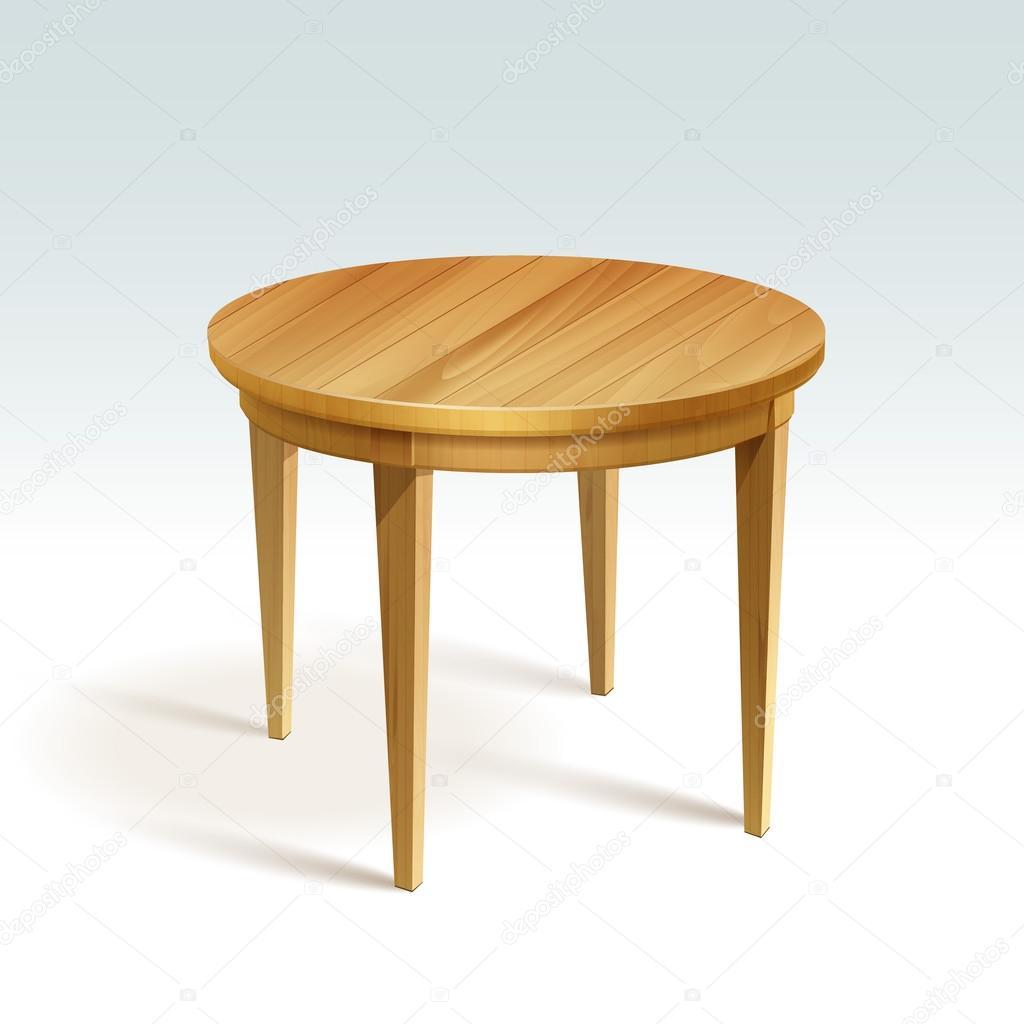 vector vaco mesa redonda de madera vector de stock 53679539