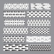 Set of hipster patterned washi tape stripes — Stock Vector #52658865