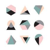 Geometric logo design — Stock Vector