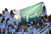 Pakistani Girls with Flag — Stock Photo