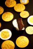 Chocolate Euro Coins — Stock Photo