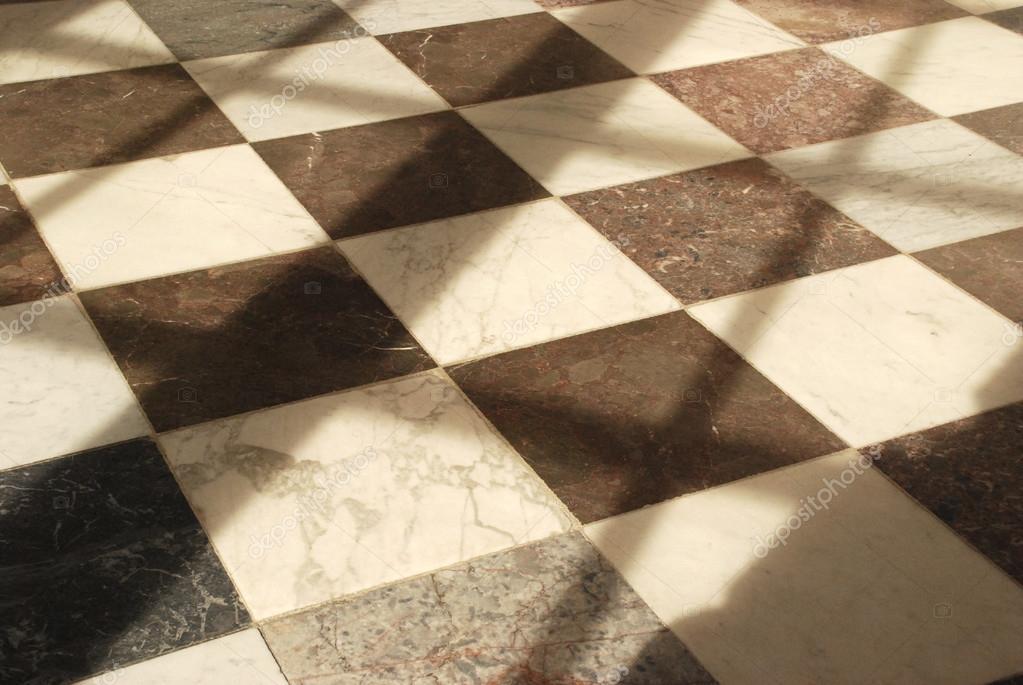 Pavimento di marmo bianco e nero foto stock for Pavimento bianco e nero