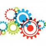 Transparent Cog Wheels — Stock Vector #52246135