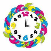 Colored Clock — Stock Vector
