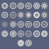 Patterns Template Set — Stock Vector