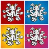 Hard Discount Big Sale — Stock Vector
