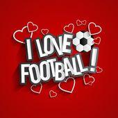 I Love Football — Stock Vector