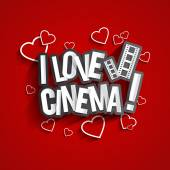 I Love Cinema — Stock Vector