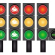 Four road traffic lights — Stock Vector #55573181