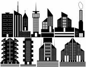 Different high-rise homes — Stockvector
