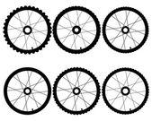 Bicycle wheels — Stock Vector