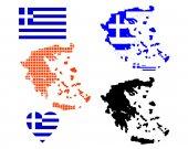 Mapa da Grécia — Vetor de Stock