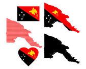 Map of Papua New Guinea — Cтоковый вектор