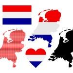 mapa dos Países Baixos — Vetor de Stock  #64437323