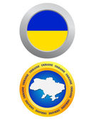 Button as a symbol of Ukraine — Stockvektor