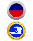 Button as a symbol  HAITI — Vecteur