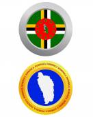 Dominika sembolü olarak düğmesi — Stok Vektör