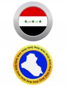 Button as a symbol IRAQ — Stock Vector