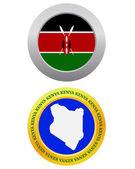Button as a symbol KENYA — Stock Vector