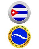 Button as a symbol  CUBA — Stock Vector