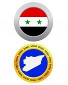 Button as a symbol SYRIA — Stock Vector