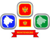 Map of Montenegro — Stock Vector