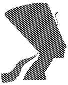Nefertiti in quadrates — Cтоковый вектор