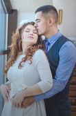 Lovers young guy and girl — Stock Photo
