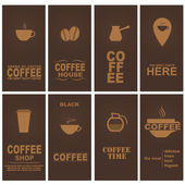 Set coffee cards — Stock Vector