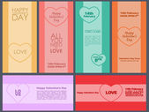 Design cards for Valentine's Day. — Stock Vector