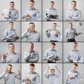 Set portrait of young businessman — Stock Photo