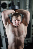 Young man at the gym — Stock Photo