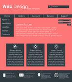 Menu design for web site — Stock Vector