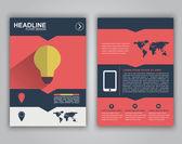 Flyer design for advertising — Stock Vector