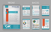 Flyer design with elements of infographics — Stock Vector