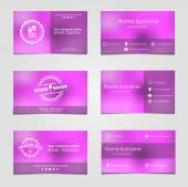 Set of business cards for wine — Stock Vector