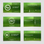 Set of business cards for tea — 图库矢量图片