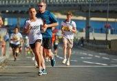 People run on Kyiv Half Marathon — Stock Photo