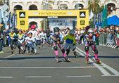 Children on Kyiv Half Marathon Inlineskating — Stock Photo