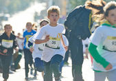 Kids run on Kyiv Half Marathon — Stock Photo