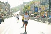 Children run on  Kyiv Half Marathon — Stock Photo