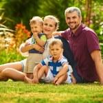 Happy Family outdoor portrait — Stock Photo #77783636