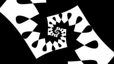 Formas blancas y negro — Vídeo de Stock